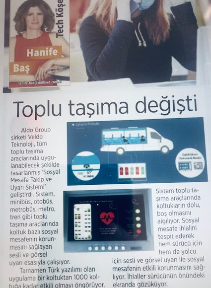 Techno Tracking to Social Distance - Milliyet Newspaper